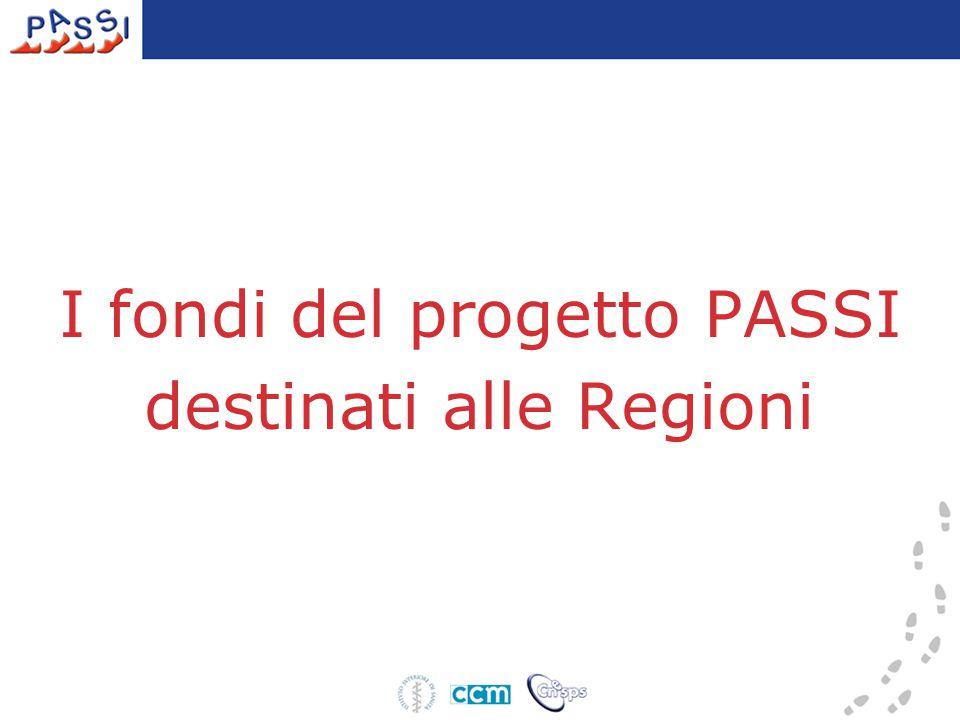 I fondi del progetto PASSI destinati alle Regioni