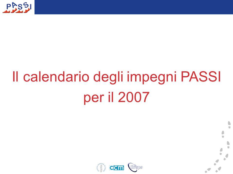 Il calendario degli impegni PASSI per il 2007