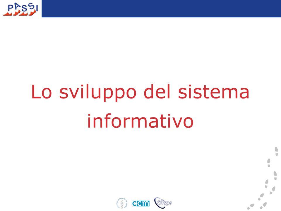Lo sviluppo del sistema informativo