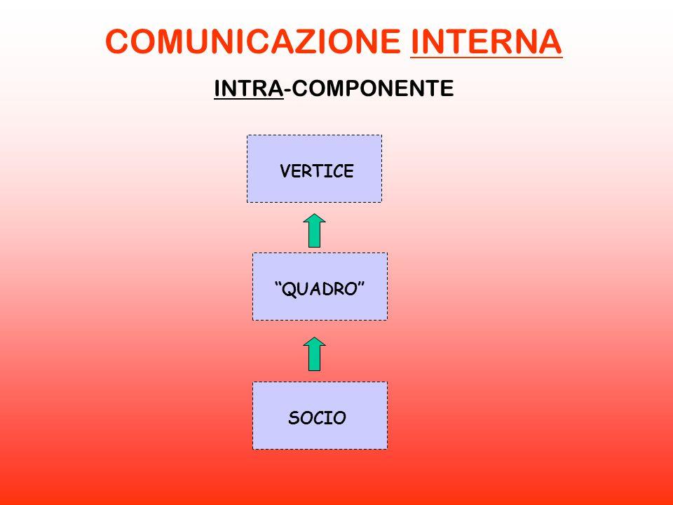 """COMUNICAZIONE INTERNA INTRA-COMPONENTE VERTICE """"QUADRO"""" SOCIO"""