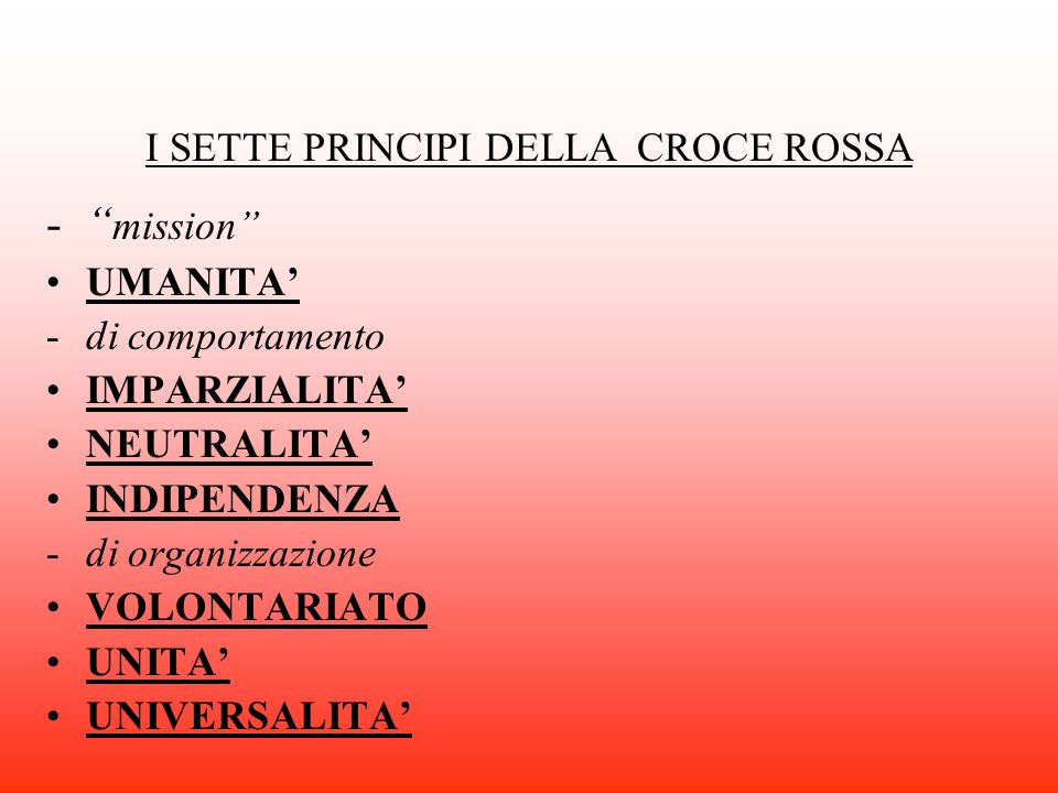 CROCE ROSSA ITALIANA CORPO MILITARE INFERMIERE VOLONTARIE VOLONTARI DEL SOCCORSO SEZIONE FEMMINILE DONATORI DI SANGUE PIONIERI DIPENDENTI COMUNICAZIONE INTERNA INTER-COMPONENTE SERVIZIO CIVILE