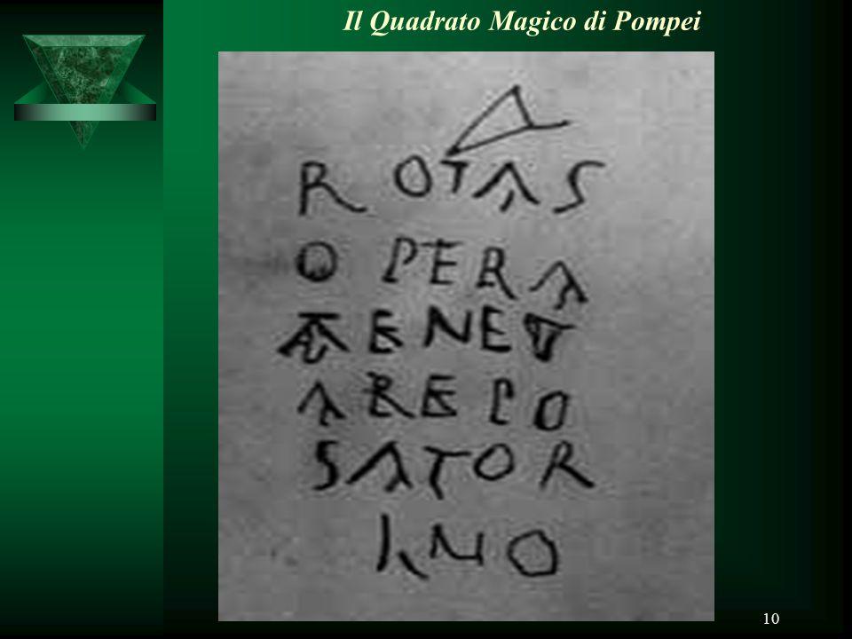10 Il Quadrato Magico di Pompei