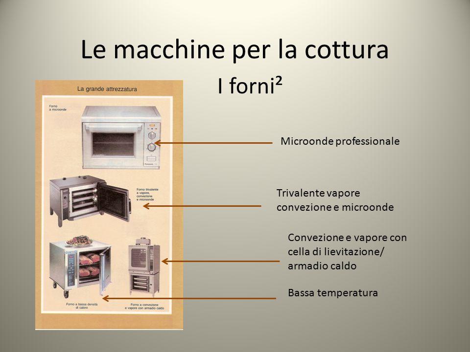 Le macchine per la cottura I forni² Microonde professionale Trivalente vapore convezione e microonde Convezione e vapore con cella di lievitazione/ ar