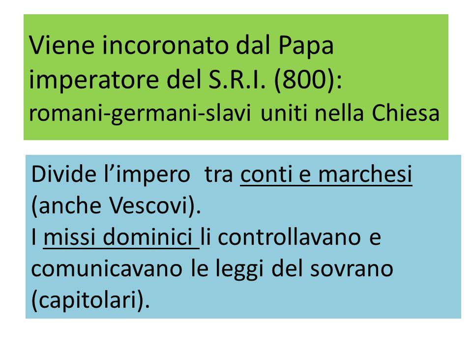 Viene incoronato dal Papa imperatore del S.R.I.