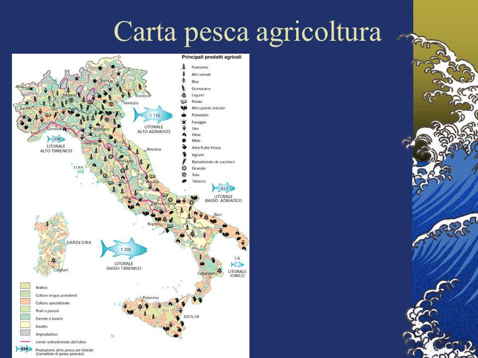 Carta pesca agricoltura