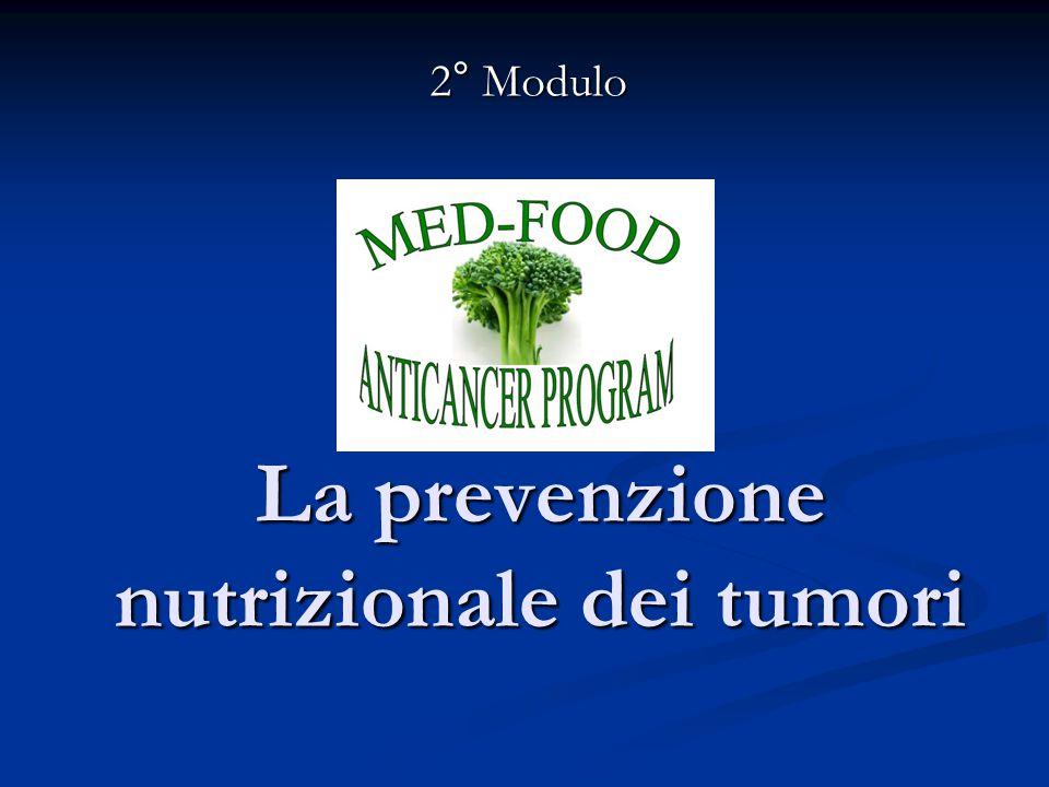 La prevenzione nutrizionale dei tumori 2° Modulo