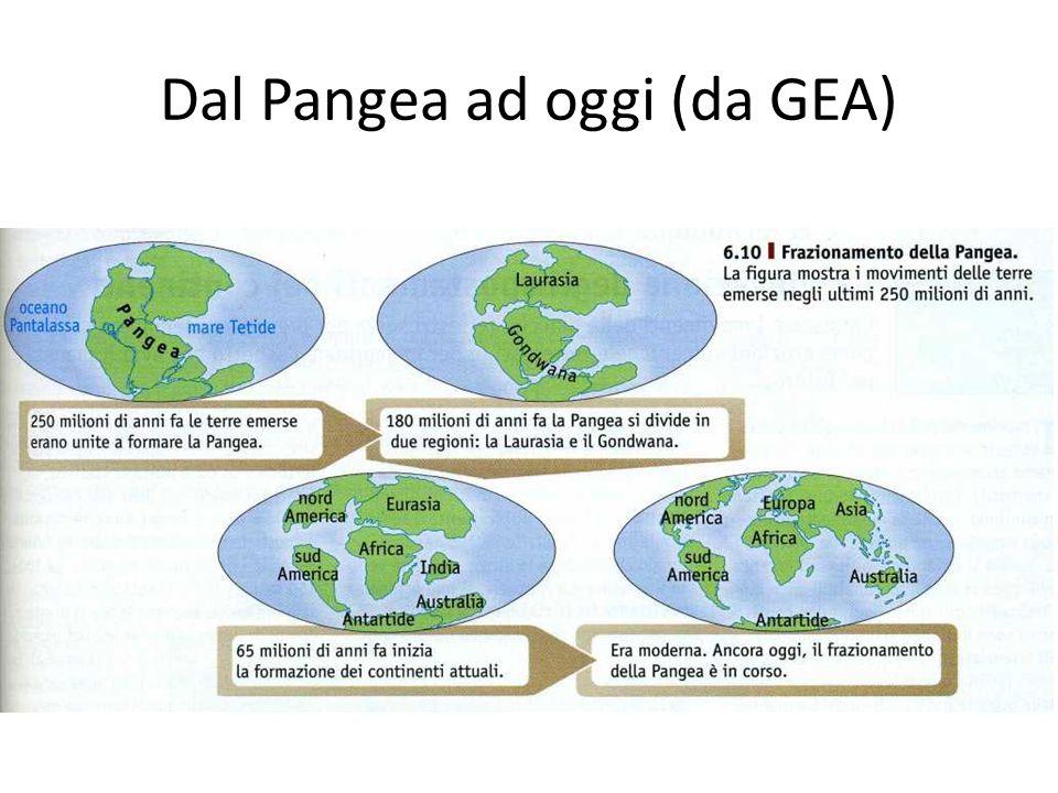 Dal Pangea ad oggi (da GEA)