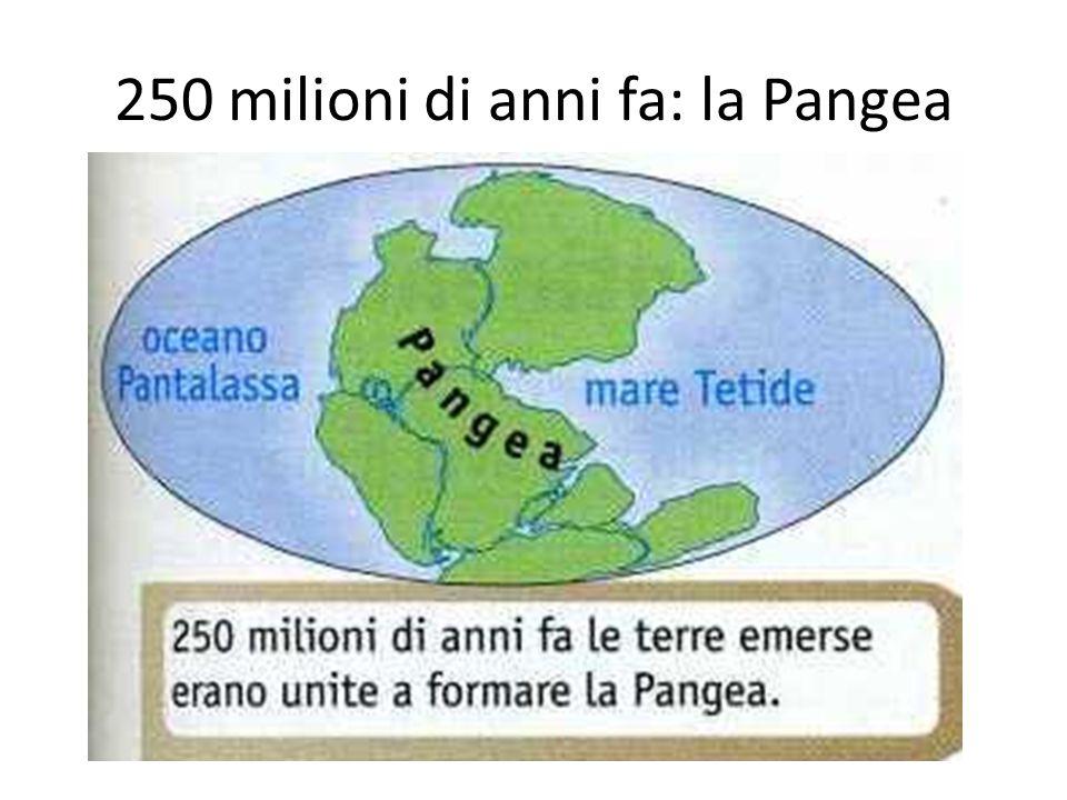 250 milioni di anni fa: la Pangea