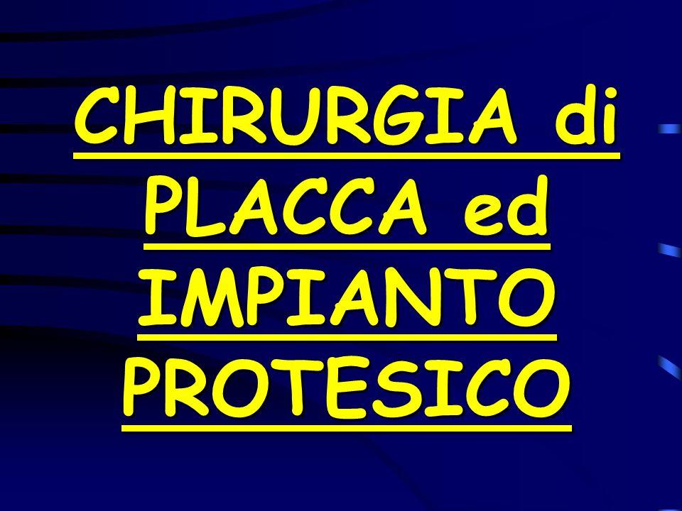 CHIRURGIA di PLACCA ed IMPIANTO PROTESICO