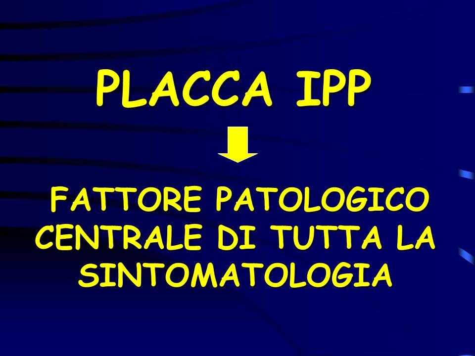 PLACCA IPP FATTORE PATOLOGICO CENTRALE DI TUTTA LA SINTOMATOLOGIA FATTORE PATOLOGICO CENTRALE DI TUTTA LA SINTOMATOLOGIA