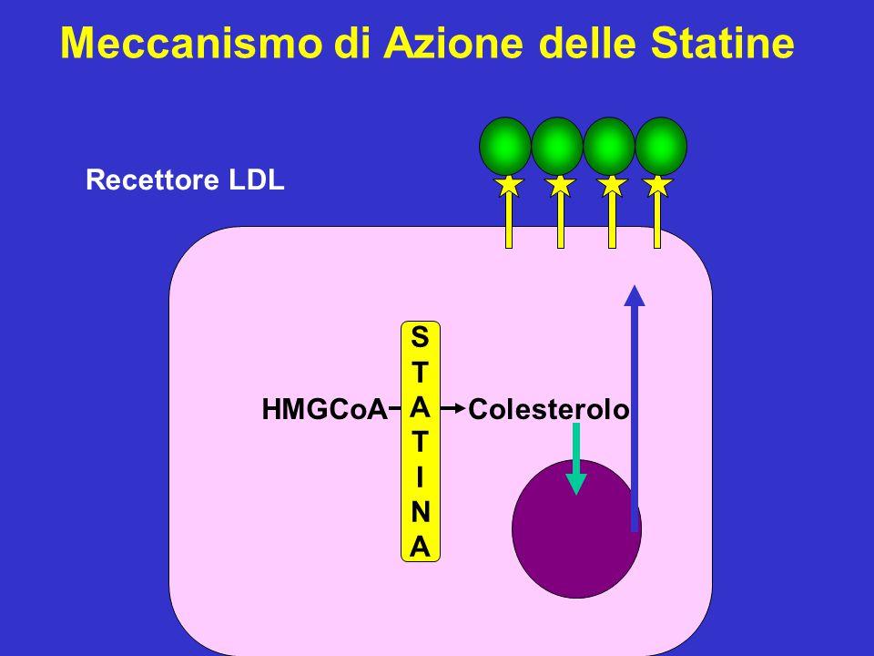 Lipoproteina (a) Omocisteina Colesterolo Totale Fibrinogeno tPA Antigene CT/C-HDL PCR PCR + CT/HDL Rischio Relativo di Infarto del Miocardio 0 1.02.04.06.0 Rischio Relativo di Futura CHD In Uomini di Mezza Età Apparentemente Sani Ridker PM.