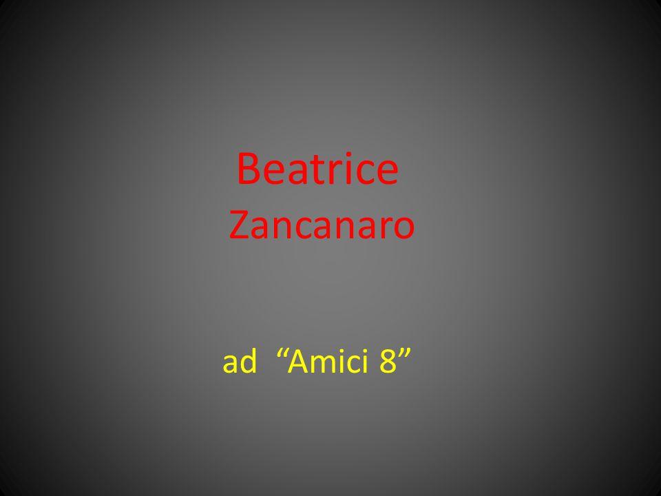 """Beatrice Zancanaro ad """"Amici 8"""""""