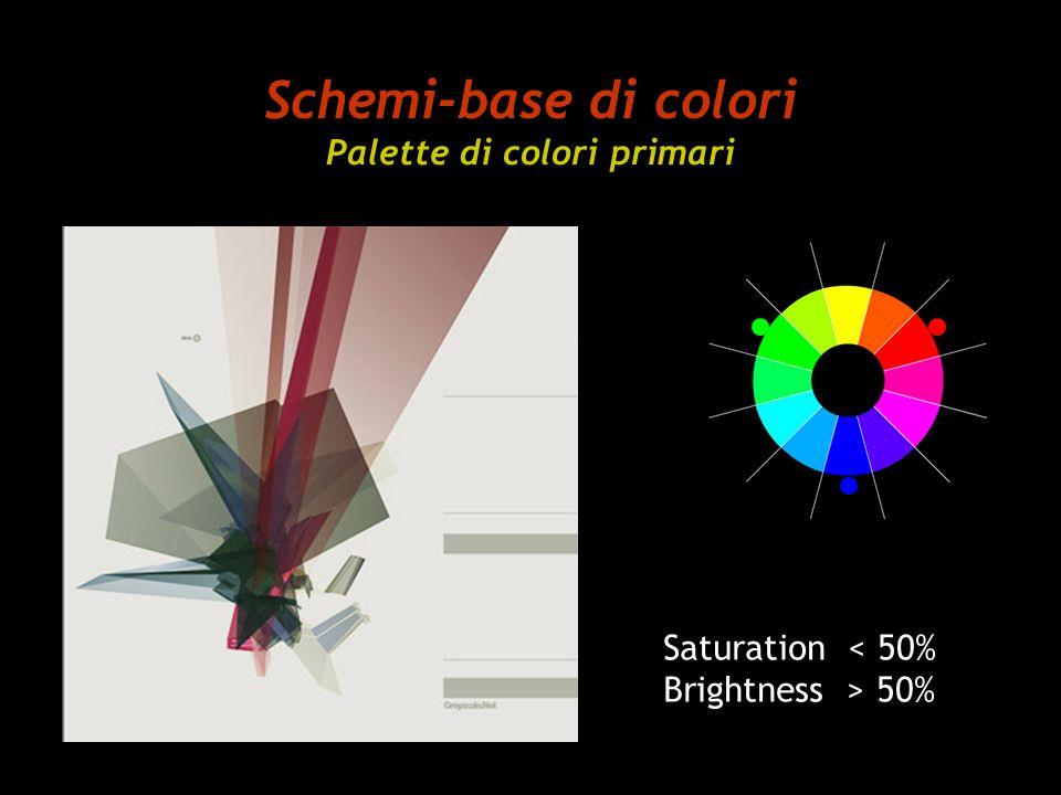 Schemi-base di colori Palette di colori primari Saturation 50%