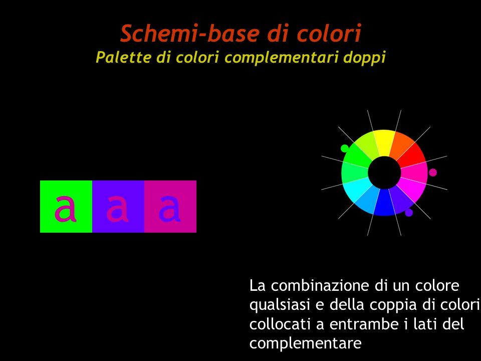 Schemi-base di colori Palette di colori complementari doppi La combinazione di un colore qualsiasi e della coppia di colori collocati a entrambe i lat