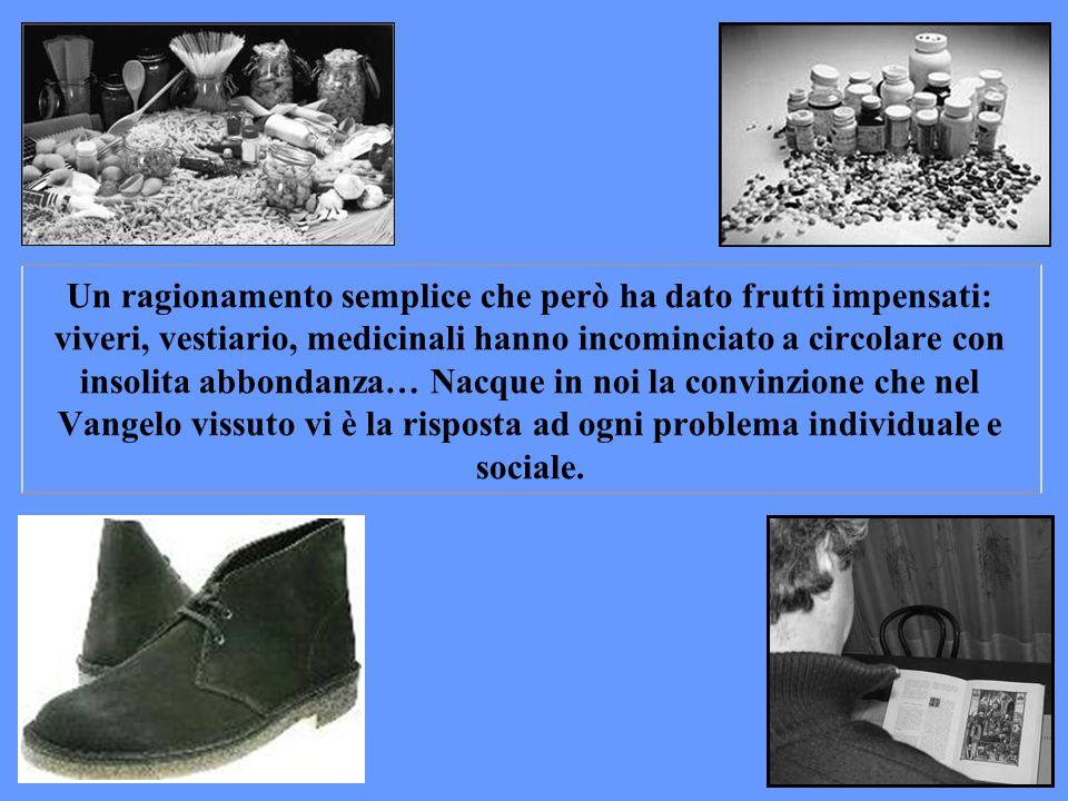 Ricordo che, durante la seconda guerra mondiale, nella nostra città di Trento, in alcune località vivevano famiglie molto povere. Siamo andate a divid