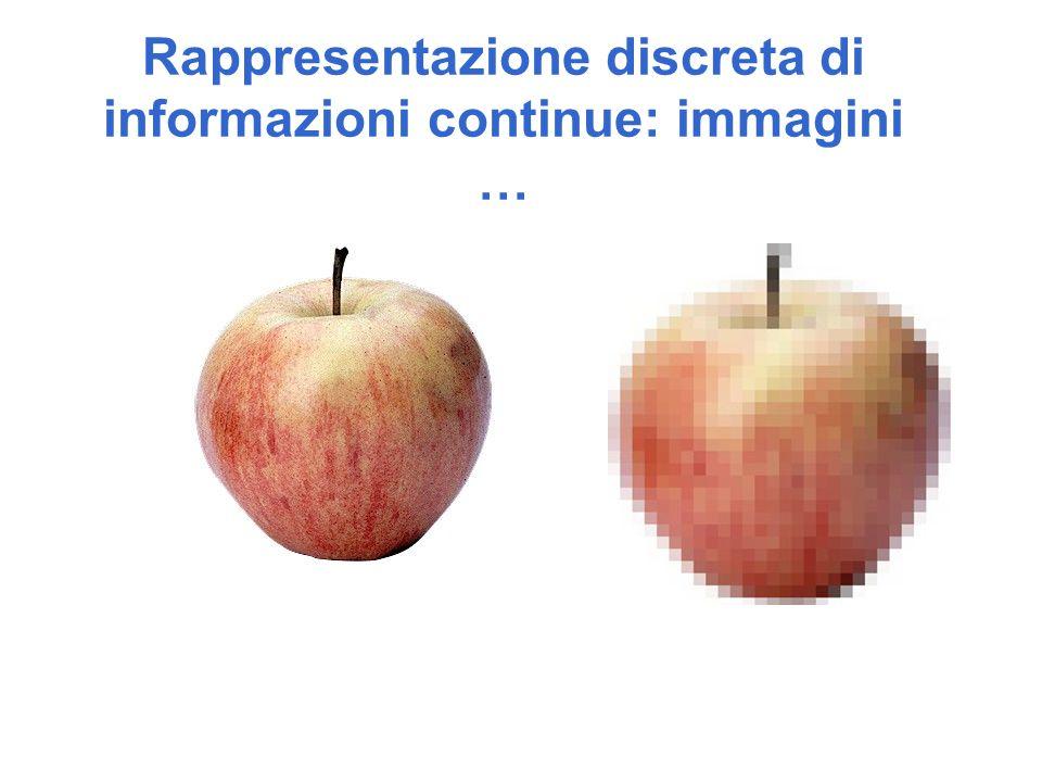 Rappresentazione discreta di informazioni continue: immagini …
