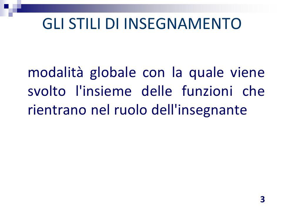 COMPONENTI FONDAMENTALI DELLO STILE DI INSEGNAMENTO 4 Cognitivo; emozionale; relazionale.