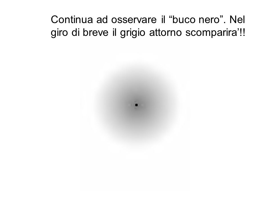 """Continua ad osservare il """"buco nero"""". Nel giro di breve il grigio attorno scomparira'!!"""