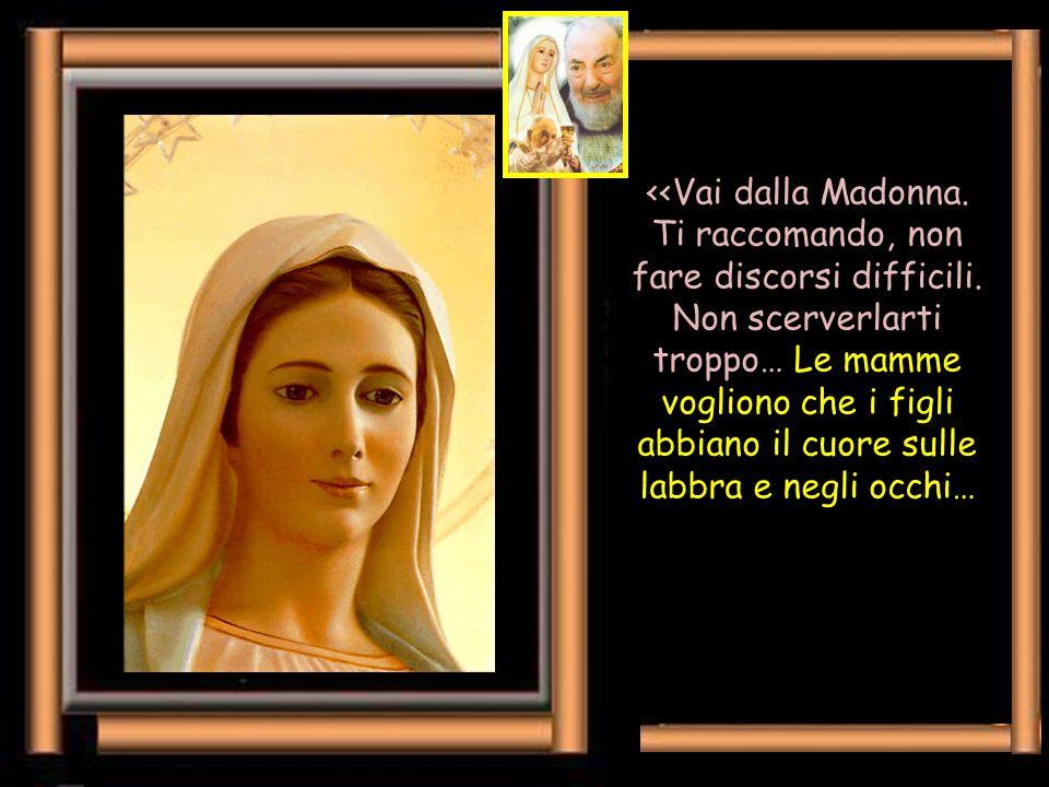 In chiusura ci piace ricordare l'enorme amore di Padre Pio per la Mamma Celeste leggendo poche righe (di pag. 348), nelle quali parlando al suo giovan