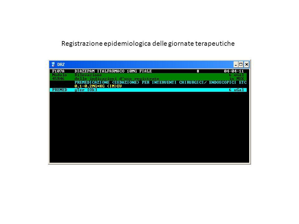 Registrazione epidemiologica delle giornate terapeutiche
