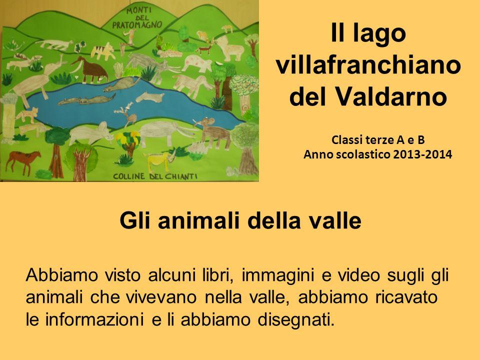 Il lago villafranchiano del Valdarno Classi terze A e B Anno scolastico 2013-2014 Gli animali della valle Abbiamo visto alcuni libri, immagini e video