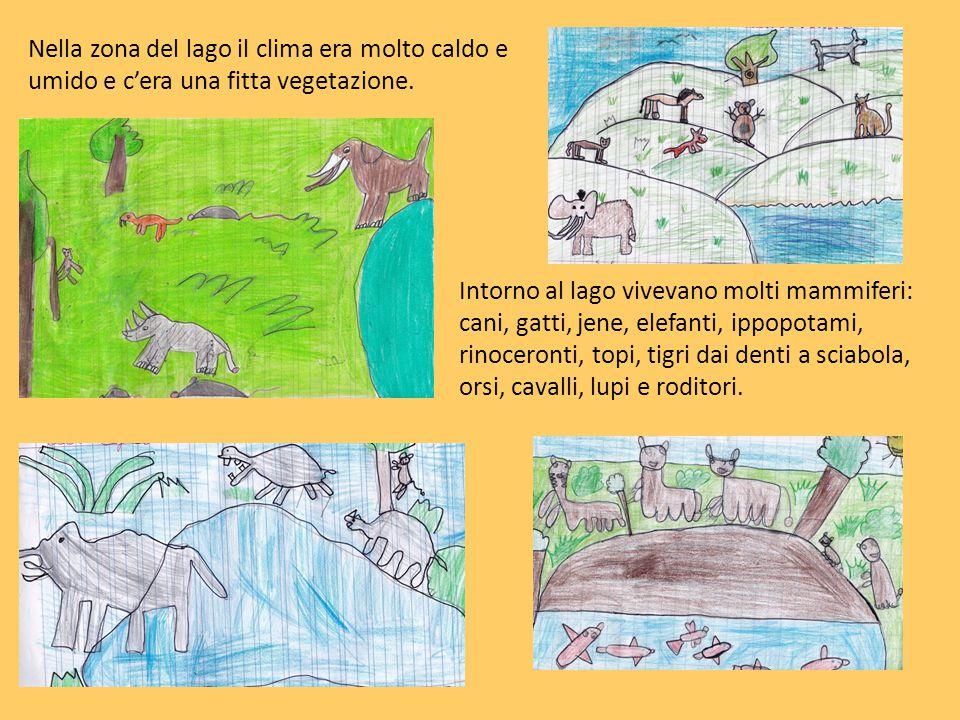 Intorno al lago vivevano molti mammiferi: cani, gatti, jene, elefanti, ippopotami, rinoceronti, topi, tigri dai denti a sciabola, orsi, cavalli, lupi