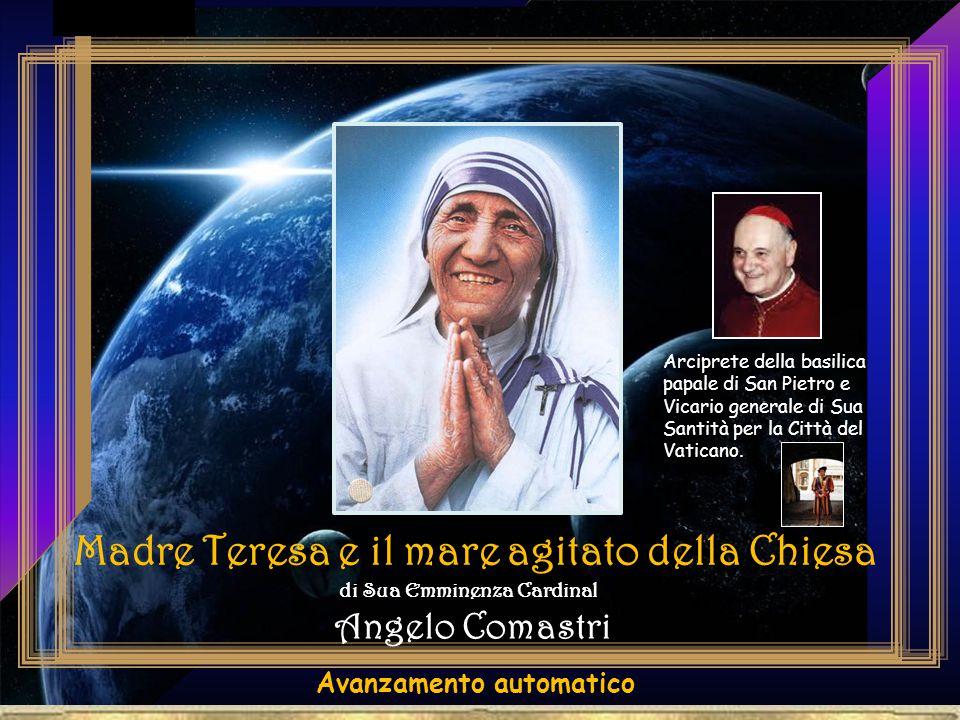 Immagino - continuò Madre Teresa - che Pietro, essendo pescatore e conoscendo bene le insidie del mare, mise un piede sull'acqua e verificò che non affondasse.