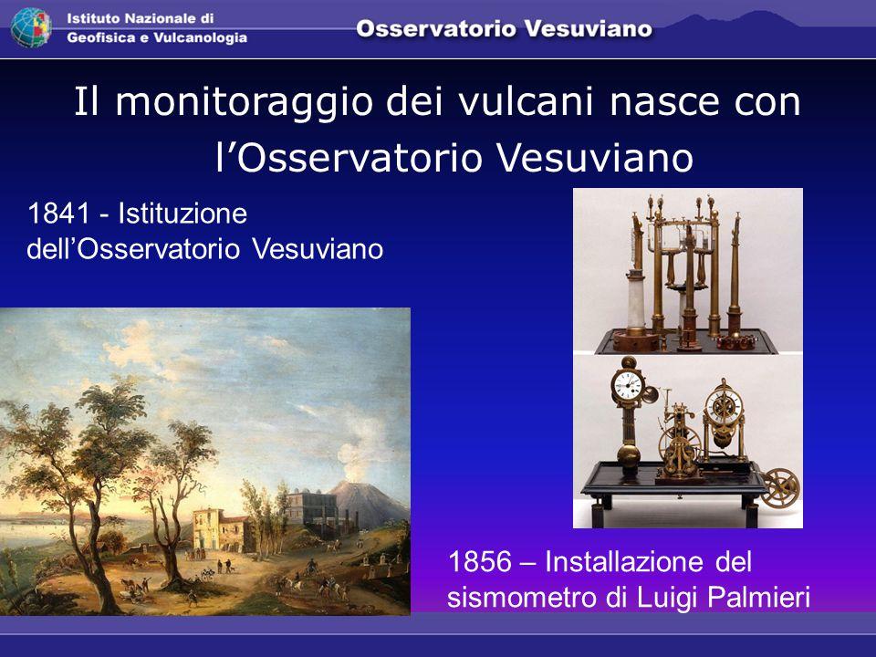 Il monitoraggio dei vulcani nasce con l'Osservatorio Vesuviano 1841 - Istituzione dell'Osservatorio Vesuviano 1856 – Installazione del sismometro di Luigi Palmieri