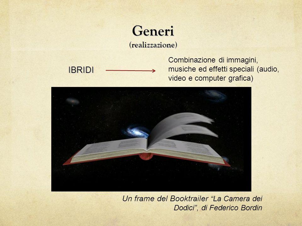 """Generi (realizzazione) IBRIDI Un frame del Booktrailer """"La Camera dei Dodici"""", di Federico Bordin Combinazione di immagini, musiche ed effetti special"""