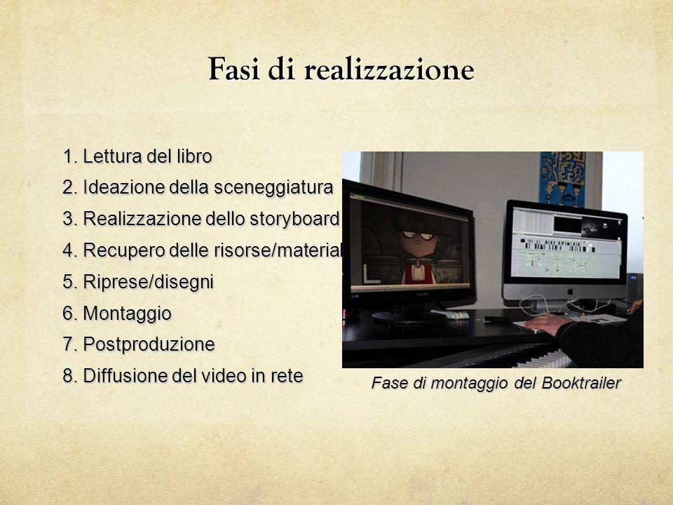 Fasi di realizzazione 1. Lettura del libro 2. Ideazione della sceneggiatura 3. Realizzazione dello storyboard 4. Recupero delle risorse/materiale 5. R