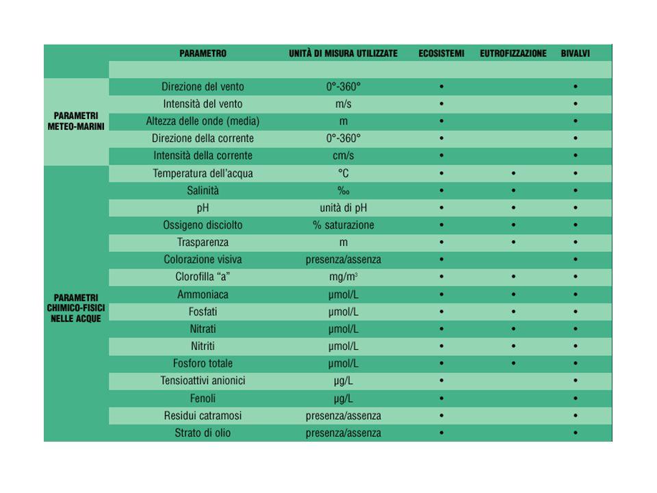 Indice trofico TRIX Nella formulazione dell'Indice TRIX, si prendono in considerazione quei parametri di stato trofico che mostrano di possedere i seguenti requisiti: essere significativi in termini sia di produzione della biomassa fitoplanctonica che di dinamica della produzione stessa; esser rappresentativi in relazione ai principali fattori causali; essere basati su misure e parametri di routine, solitamente raccolti nell'ambito di campagne di monitoraggio costiero.