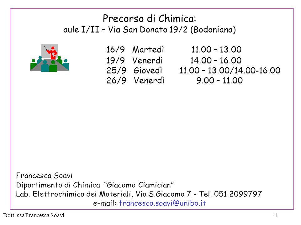 Dott.ssa Francesca Soavi82 ESERCIZI 2) 250 mL di etanolo C 2 H 5 OH a 20 °C pesano 197,3 g.