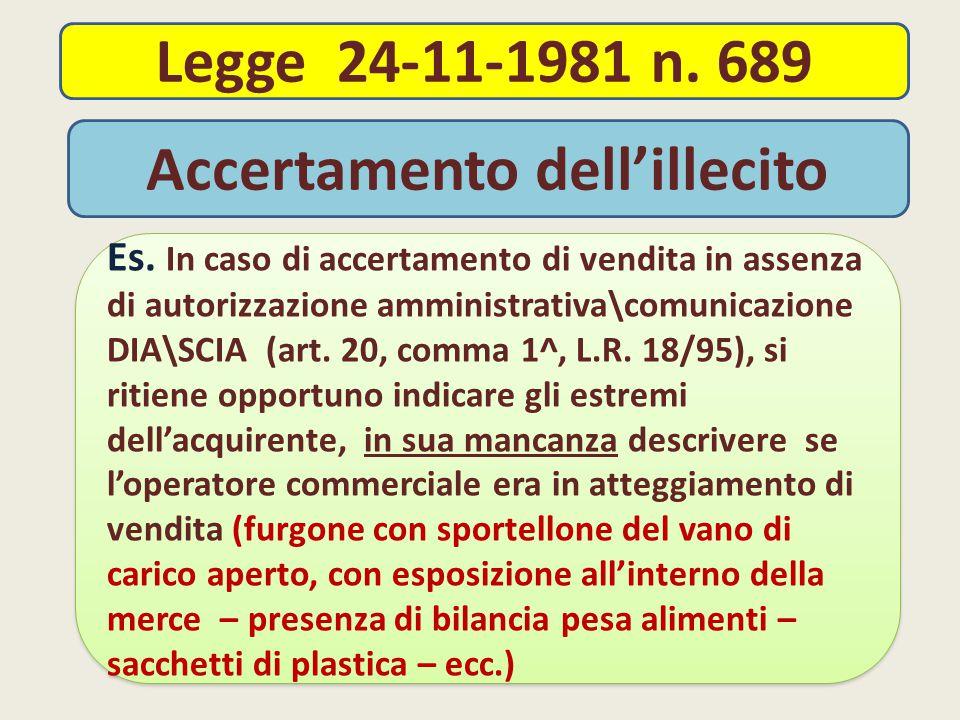 Legge 24-11-1981 n.689 Es.