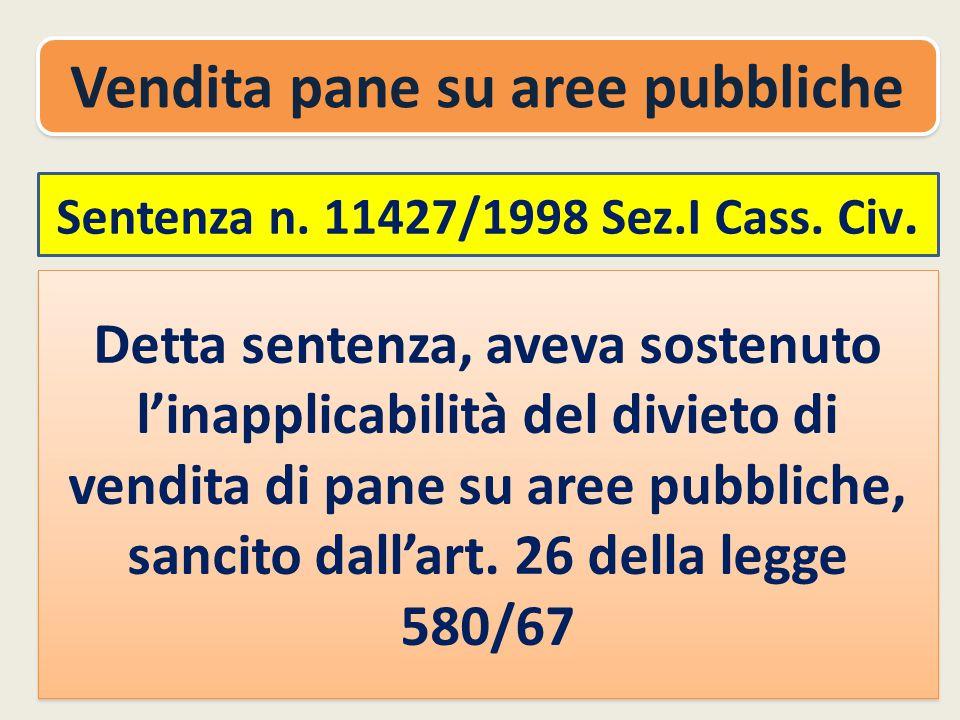 Sentenza n.11427/1998 Sez.I Cass. Civ.