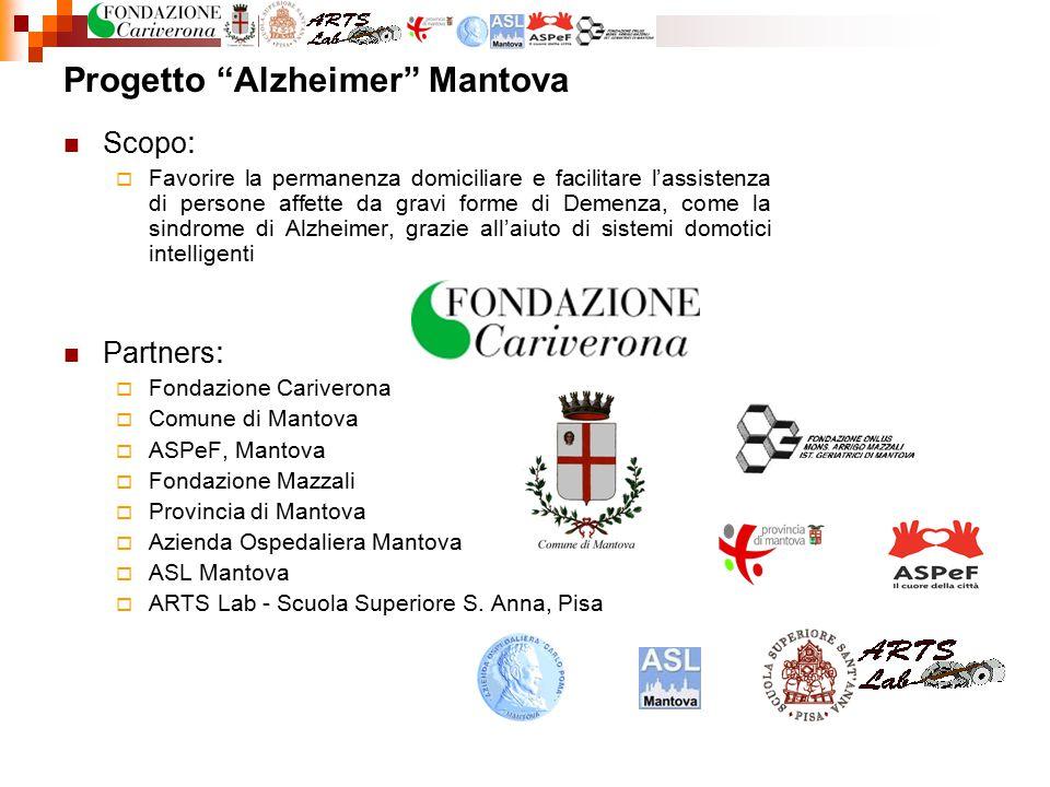 """Progetto """"Alzheimer"""" Mantova Scopo :  Favorire la permanenza domiciliare e facilitare l'assistenza di persone affette da gravi forme di Demenza, come"""