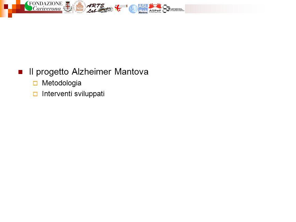 Il progetto Alzheimer Mantova  Metodologia  Interventi sviluppati