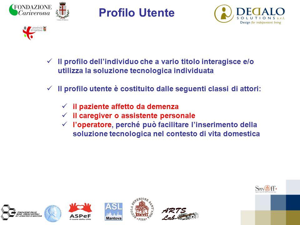 Profilo Utente Il profilo dell'individuo che a vario titolo interagisce e/o utilizza la soluzione tecnologica individuata Il profilo utente è costitui