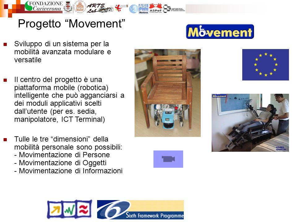 """Progetto """"Movement"""" Sviluppo di un sistema per la mobilità avanzata modulare e versatile Il centro del progetto è una piattaforma mobile (robotica) in"""