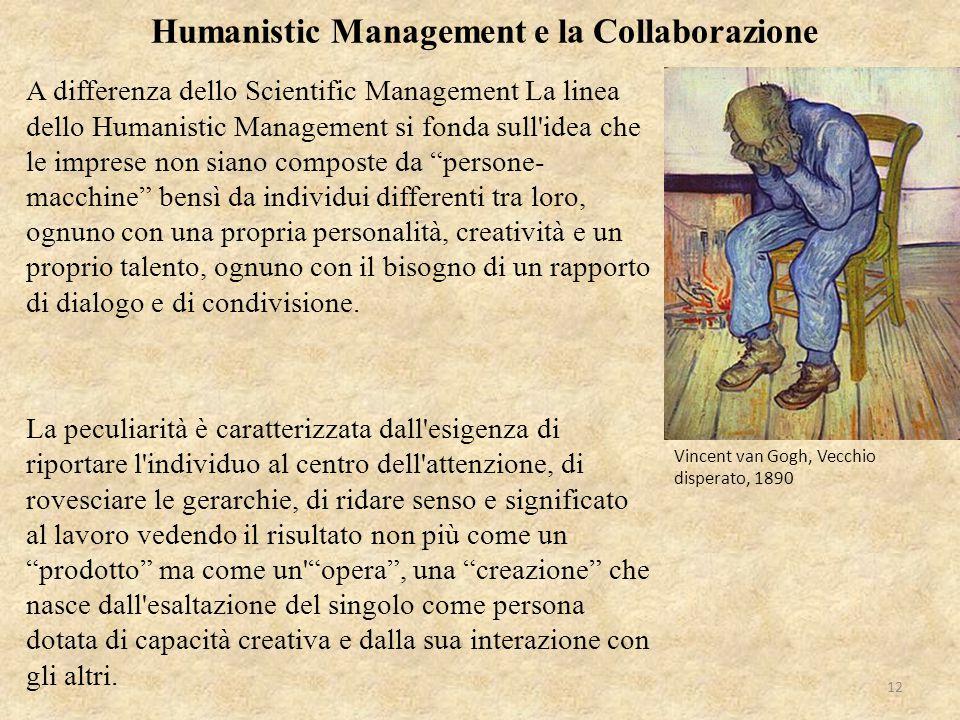 """A differenza dello Scientific Management La linea dello Humanistic Management si fonda sull'idea che le imprese non siano composte da """"persone- macchi"""