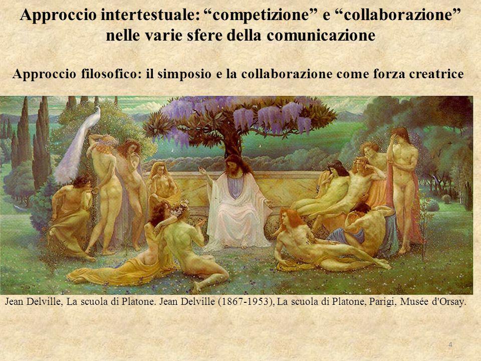 """Approccio intertestuale: """"competizione"""" e """"collaborazione"""" nelle varie sfere della comunicazione Jean Delville, La scuola di Platone. Jean Delville (1"""