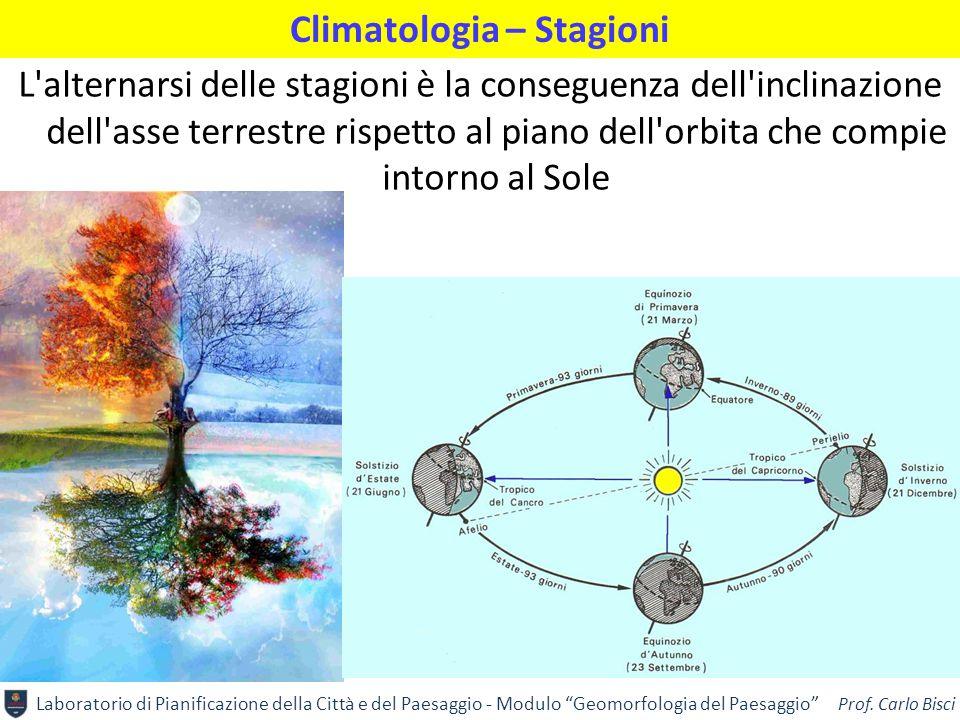 """Laboratorio di Pianificazione della Città e del Paesaggio - Modulo """"Geomorfologia del Paesaggio"""" Prof. Carlo Bisci Climatologia – Stagioni L'alternars"""