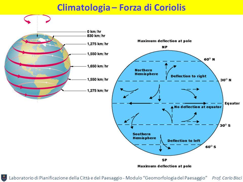"""Laboratorio di Pianificazione della Città e del Paesaggio - Modulo """"Geomorfologia del Paesaggio"""" Prof. Carlo Bisci Climatologia – Forza di Coriolis"""