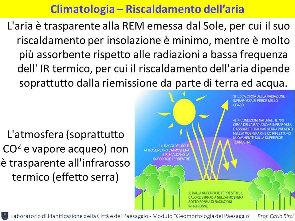 """Laboratorio di Pianificazione della Città e del Paesaggio - Modulo """"Geomorfologia del Paesaggio"""" Prof. Carlo Bisci Climatologia – Riscaldamento dell'a"""
