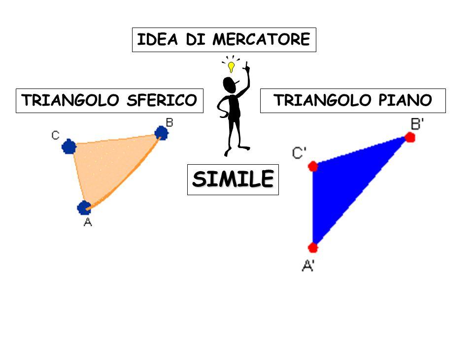 TRIANGOLO SFERICOTRIANGOLO PIANO SIMILE IDEA DI MERCATORE