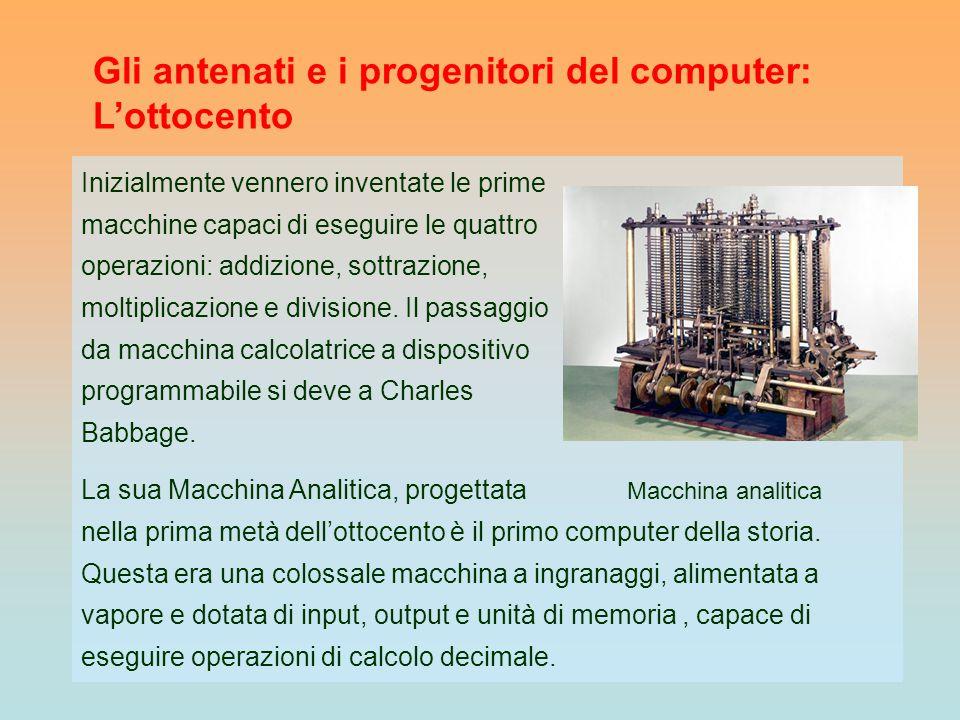 Inizialmente vennero inventate le prime macchine capaci di eseguire le quattro operazioni: addizione, sottrazione, moltiplicazione e divisione. Il pas
