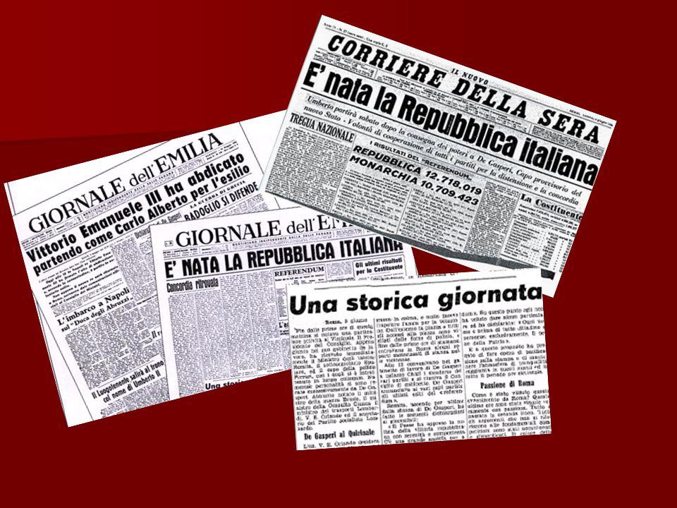 Risultati elettorali delle elezioni politiche … -DC (Democrazia Cristiana): 37,18 % -PSI (Partito Socialista Italiano): 20,72 % -PCI (Partito Comunista Italiano): 18,97 %