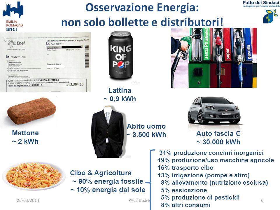 Osservazione: energia ce n'è per tutti.