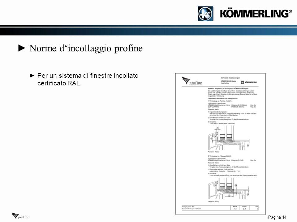 Pagina 14 ► Norme d'incollaggio profine ►Per un sistema di finestre incollato certificato RAL