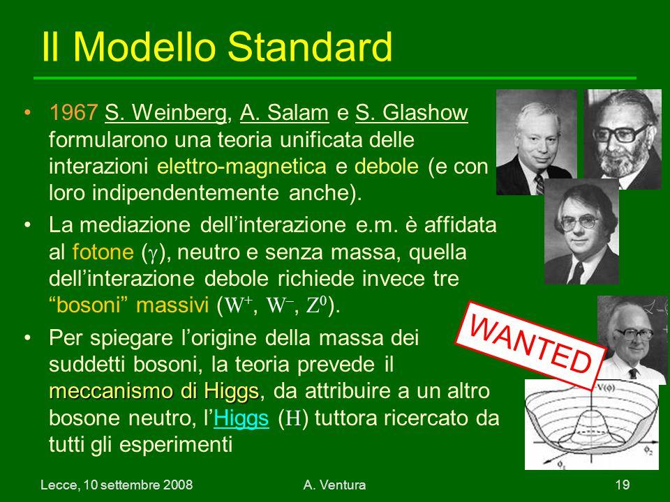 Lecce, 10 settembre 2008A.Ventura 19 Il Modello Standard 1967 S.