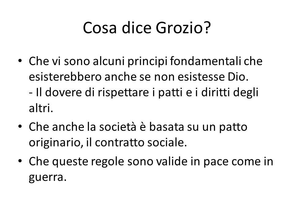 Cosa dice Grozio.